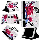 For Various 7 8 10 inch Tablet - Folio Stand Leather Cover Case + Stylus