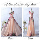 US Women's Formal Long Dress Prom Evening Party Cocktail Bridesmaid Wedding Gown