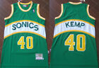 New Men's Seattle Supersonics #40 Shawn Kemp Basketball jersey Mesh Green on eBay