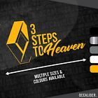 Renault 3 Steps to Heaven Sticker / Decal - Multiple Colours & Sizes - Tractor