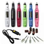 1 Electric Manicure Machine Nail Drill Bit Pen Gel Polish File Step Up USB Cable