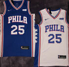 NWT Ben Simmons #25 Philadelphia 76ers Men's Stitched Blue / White Jersey