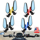 """Motorcycle Arrow Oval 7/8"""" Bar End Under Over Handle Bar Rearview Side Mirrors $18.95 USD on eBay"""