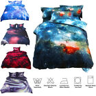 3d Print Sky Stars Universe Night Duvet Cover Set Pillow Sham Flat Sheet Sets US