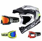Scorpion VX-16 Offroad Arhus Air Crosshelm schwarz grau TWO-X Race Crossbrille