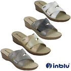 Womens Wedge Sandals Elasticated Inblu Open Toe Soft Padded Comfort Shoes UK 2-8