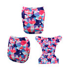 ALVABABY Reusable Washable Baby Cloth Diapers Pocket Diapers+ 1pcs Bamboo Insert