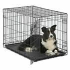 Dog Cage Pet Crate Kennel Metal Folding Cat Tray 2 Playpen 36 48 42 24 30 Inches