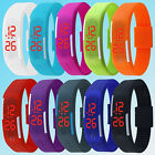 Mens Womens Striking Silicone Red LED Sport Bracelet Touch Digital Wrist Watch image