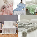 40x41'' Knitting Blanket Cute Pom Pom Sofa Throw Bedroom Comfort Sleep Quilt image