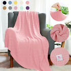 Soft Warm 100% Cotton Cable Knit Throw Blanket for Couch Bed Sofa Chair Washable image