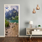 Self adhesive Door wrap removable Peel & Stick Landscapes Lake in the mountains