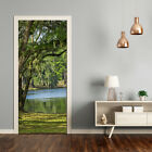 Self adhesive Door wrap removable Peel & Stick Landscapes Lake in the park