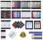 Mens 100% Cotton handkerchiefs/Hankies/Hankys Boxed Gift Pack Lot Various Design