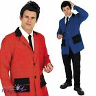 Mens 50s 1950s Teddy Boy Rock And Roll Fancy Dress Costume Jacket Shirt And Tie