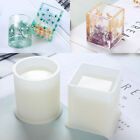 DIY Silicone Mold Pen Container Square Round Storage Holder Epoxy Resin Molds