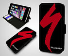 Specialized Cycle Bike Cycling Racing Team Flip Wallet Leather Phone Case Cover