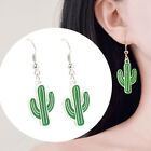 Girls Cactus Coconut Tree Hook Earrings Anti-allergy Party Shopping Jewelry Sanw