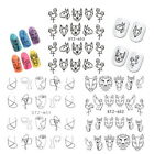 Femme Mode Stickers Dentelle Bijoux Ongles Water Decals Manucure Nail Art XQ