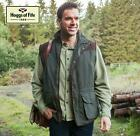 Hoggs Of Fife Reversible Breezer Bodywarmer Olive/Beige Size Large