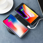 AU Dual Wireless Charging Pad,10W Qi Fast Charger Two Phones compatibility