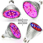 E27 LED Grow Light Bulb Full Spectrum Hydroponics Seeding Greenhouse Plant Lamp