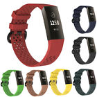 Rhombus Breathable Silicone Watch Band Strap Replacement for Fitbit Charge 3 San