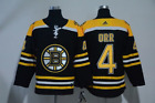 NEW Mens Boston Bruins 4 Bobby Orr Black Home Hockey Jersey
