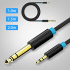 3.3/5/6.6FT TRS Stereo Gold Plated 3.5mm 1/8 To 6.35mm 1/4 Male Jack Audio Cable
