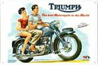 Triumph Motorcycle Thunderbird Poster Metal Tin Sign Plate Wall Decor $6.99 USD on eBay