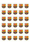 BARCELONA FC CUPCAKE TOPPERS EDIBLE WAFER PAPER MULTIPLE SIZES