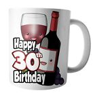 Red Wine Themed Birthday Mug Gift Ladies Mens Son Daughter Wife Husband Mum Dad