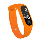 Men Women Casual Digital LED Sports Watch Unisex Silicone Band Wrist Watches TE