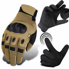 Touch Screen Tactical Cycling Combat Hard Knuckle Full Finger Gloves Hunting Men