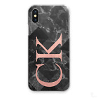 PERSONALISED INITIALS PHONE CASE PINK FADE STAR PATTERN HARD COVER, CUSTOM NAME