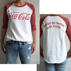 Junk Food Coca Cola Destroyed Finish Color Block Raglan t-shirt Back Print New $38.0  on eBay