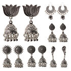 India Silver Oxidized Stud Jhumka Multi-style Indian Earrings Jewelry For Girls