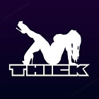 4 Styles THICK decal SEXY BIG CHICK Mudflap girl sticker decal woman car window