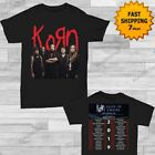 Korn t Shirt North American Tour 2019 T-Shirt 2 side Men Black Gildan Size M-3XL image