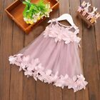 Kids Toddler Baby Girls Wedding Princess Party Lace Floral Sleeveless Cute Dress