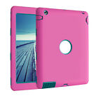 SHOCKPROOF HEAVY DUTY CASE COVER STAND FOR IPAD 2/3/4 MINI 1 2 3 Air 2 1 9.7""