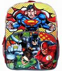 "BATMAN  SUPERMAN 16"" Full-Size Light-Up Backpack w/Optional Insulated Lunch Box"
