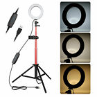 Dimmable LED Selfie Ring Light with Tripod Stand Phone Holder for Live Stream