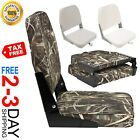 Folding Marine Boat Seat Low-Back Pontoon Bass Boating Shadow Grass Camo New HOT
