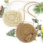 Summer Women Hand-woven Rattan Bag Straw Purse Handmade Wicker Crossbody Beach