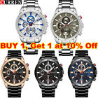 CURREN Watch Mens Watches Outdoor Wristwatches Full Steel Boy Sports Waterproof~ image
