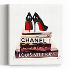 Wall Glam Fashion Art Canvas Print Books Chanel Prada Poster Design Artwork