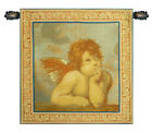 Raphae'ls Angel, Left Panel Italian Woven Wall Hanging Tapestry 22 x 21""