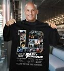 Fast and Furious T-shirt 18 Years Cast Signed Tee Shirt Size S-5XL image