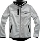100% Mission Hooded Zip Jacket Gray Mens All Sizes $110.0 USD on eBay